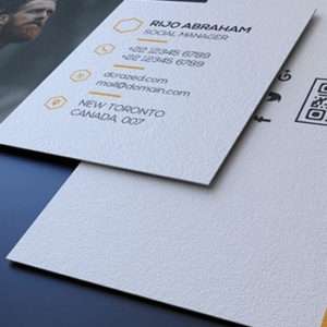 Embossed visiting card redpixel printworks premium textured visiting card reheart Gallery